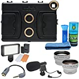 Melamount MM-IPADAIR2 Video Stabilizer Pro Multimedia Rig for Apple iPad Air 2 with LED Video Light + Microphone + Telephoto & Wide-Angle Lenses + Kit