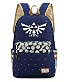 YOYOSHome Luminous Anime The Legend of Zelda Cosplay College Bag Daypack Bookbag Backpack School Bag (Dark Blue)