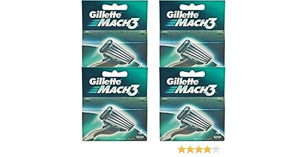 Gillette Mach3 Original - 16 - Cuchillas de afeitar - para una apurado: Amazon.es: Salud y cuidado personal