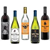 Wine Bottle Labels (5 count) by Amscan