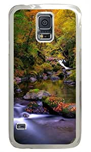 Forest Creek Autumn PC Case Cover for Samsung S5 and Samsung Galaxy S5 Transparent