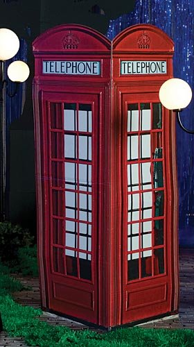 London Phone Booth Standup Photo Booth Prop Background Backdrop Party Decoration Decor Scene Setter Cardboard Cutout