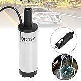 b auto 12V 38mm Electric Submersible Water Pump Oil Fuel Pump Cigarette Plug 8700r/min