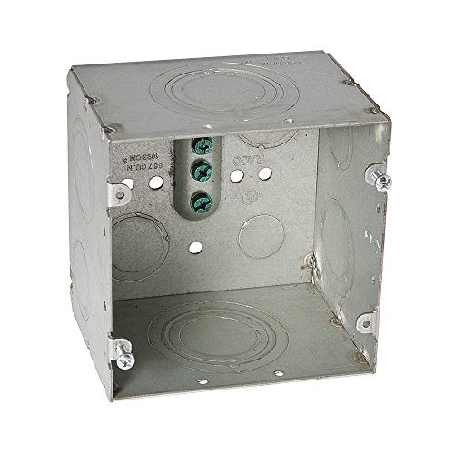 Hubbell-Raco 260 Square Data Electrical Box, 3-1/4'' Deep, 4-11/16'' Large (Pack of 10) by Hubbell Raco
