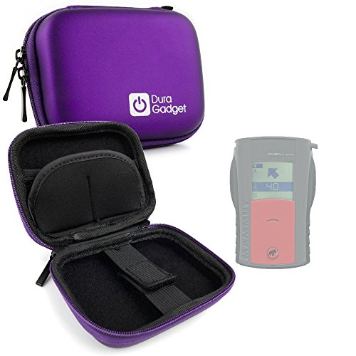 DURAGADGET Premium Quality Hard 'Shell' EVA Case in Purple with Carabiner Clip for the Mammut Barryvox Pulse Avalanche Transceiver (Beacon Avalanche Pulse)