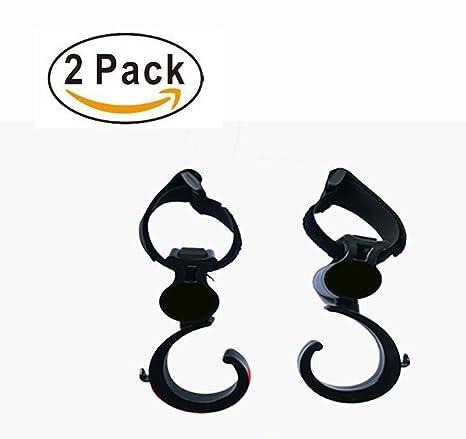 Gancho para cochecito, 2 paquetes de ganchos multiusos – giratorio – bolsa de pañales para