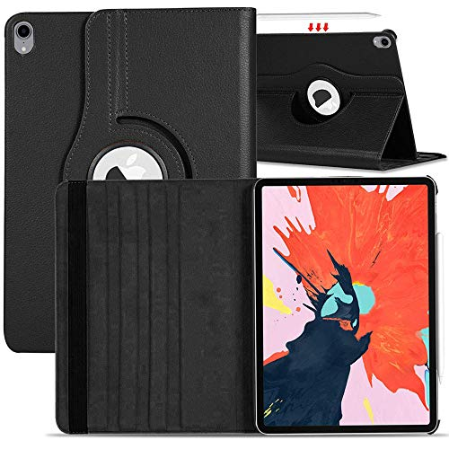 AMZER 360 Degrees Rotating Smart Case Full Protective Flip Cover for iPad Pro 11 Inch  2018