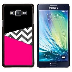 Modelo negro del rosa de diseño de moda- Metal de aluminio y de plástico duro Caja del teléfono - Negro - Samsung Galaxy A7 / SM-A700