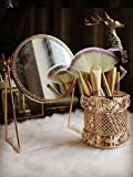 CY craft Gold Makeup Brush Holder,Brass Vintage