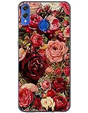 Oihxse Case Transparente Suave TPU Compatible con Huawei Nova 5/Nova 5 Pro Funda [Lindo Caricatura Flor Serie Dibujos] Cristal Protector Carcasa Anti Rasguños Bumper Cover-Rosa