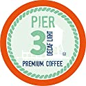 Pier 3 Single-Cup Coffee for Keurig K-Cup Brewers, Light Roast Decaf, 40 Count