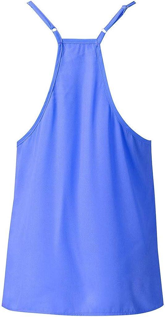 SANFASHION Bekleidung Canotte Donna Estive,Canottiera Tinta Unita Canotta Camicetta Senza Maniche T-Shirt Vestiti Estivi Donna Felpa Vest Top Pullover Blouse Camicie Maglietta Tops