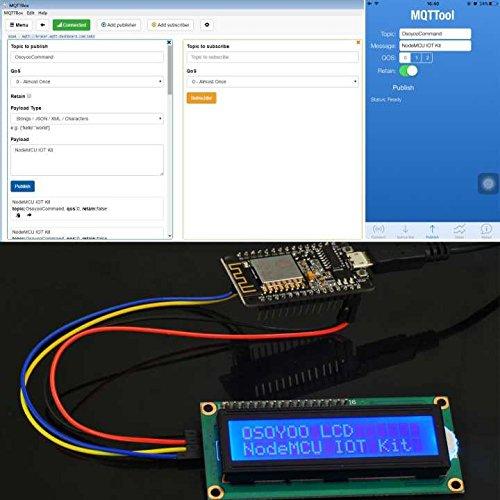 OSOYOO NodeMCU IOT Starter kit Open Source Programming Learning with  NodeMCU ESP8266 WiFi Developmen Board and Free Tutorial for MQTT Broker
