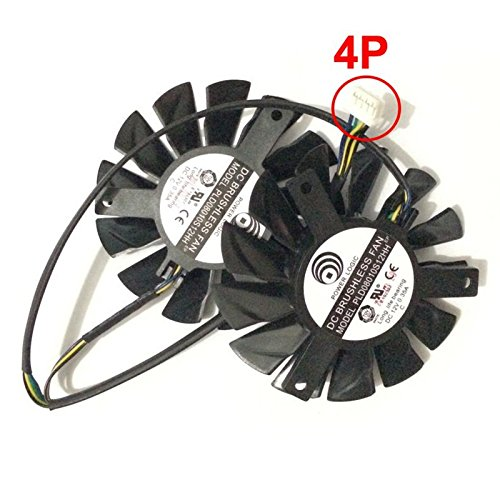 PLD08010S12HH 12V 0.35A 75mm 4Pin Replacement Cooling Fan For MSI R6790 GTX570 R6850 GTX460 HD7850 Graphics Card Fan by Tebuyus (Image #2)
