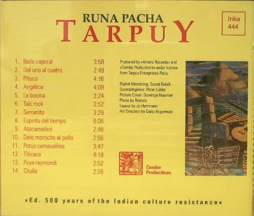 Runa Pacha : The Best of Tarpuy : Musica De Los Andes