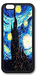 iPhone 6 Cases, Personalized Custom Soft TPU Black Edge Case Cover for New iPhone 6 4.7 inch Blue Painting by supermalls