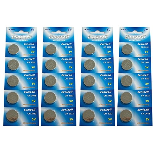Lithium Blister Pack - Eunicell CR2032 5004LC Lithium Blister Pack 3V 3 Volt Coin Cell Batteries (20 pcs)