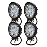 TURBO SII 4PCS 4 Inch Led Work Light Bar 27w 2200LM Driving Pods Spot Beam Work Lamp For Off-Road Suv Boat 4X4 Jeep JK 4Wd Truck 12V-24V