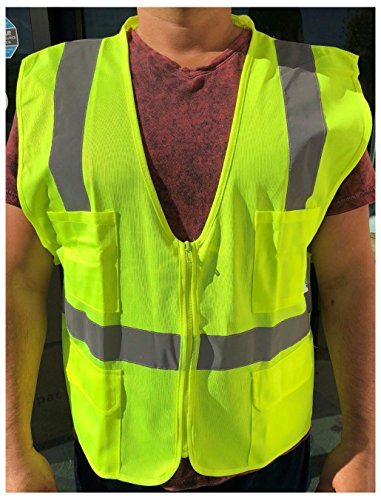XL ANSI CLASS 2/ Reflective Tape/ High Visibility Yellow Safety Vest from Unknown