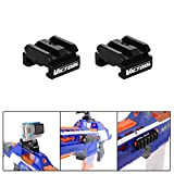 Gun Rail Adapter for Nerf to Picatinny Rail Mount Aluminum Alloy Adapter Mount 18mm-21mm for Nerf Gun Accessories Rifle Airsoft Gun Rail Mount Adapter Kit Action Camera Gopro etc (Set of 2)