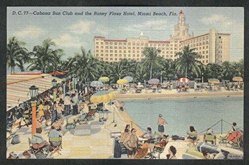 Cabana Sun Club & Roney Plaza Hotel Miami Beach FL postcard (Cabana Sun Club)