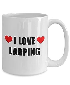 Amazon com: I Love LARPing Mug Big Acrylic Coffee Holder