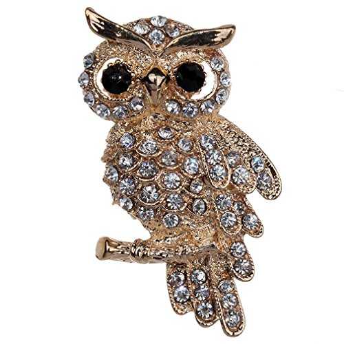YAZILIND Jewelry Full Cute Owl Brooches and Pins for Wedding Party
