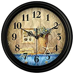 YAOJIA Wall Clock Non Ticking Silent Non Ticking Big Number Display Easy to Read Battery Operated(not Included) for Home/Kitchen/Office/School Clock ~ (Color : E, Size : 14 Inch)