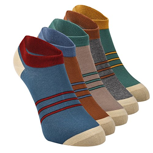 Mens New Sports No Show Deodorant Cotton Socks Crew Socks 5 Pack #2