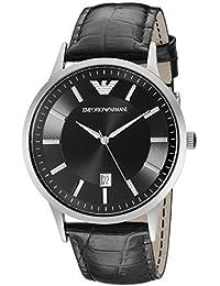 Emporio Armani Men's AR2411 Dial Leather Black Dial Watch