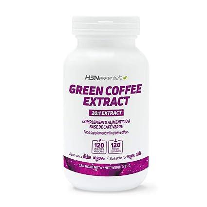 Café Verde de HSN Essentials | 500mg Extracto de Coffea Arabica | Con Ácido Clorogénico y