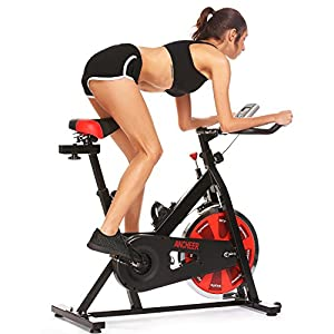 ANCHEER Indoor Cycling Bike, Belt Drive Indoor Exercise Bike with 40LBS Flywheel (Model: ANCHEER A5001)