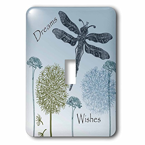 3dRose LLC lsp_79324_1 Dreams and Wishes Dandelions and Dragonflies Single Toggle Switch