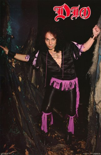 Ronnie James Dio Poster Rainbow Great Early Shot