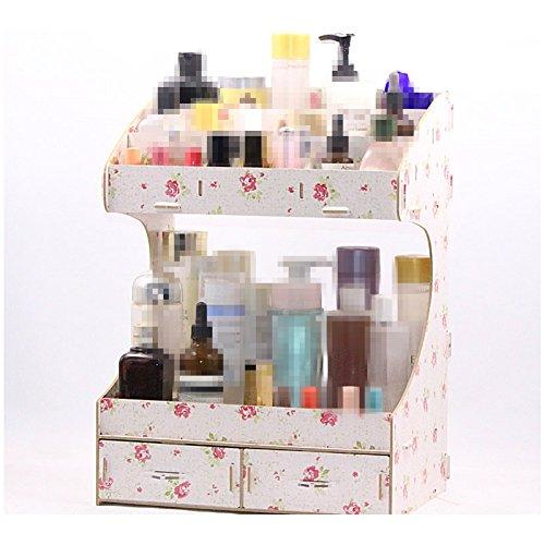 XICHENGSHIDAI Multi-layer creative Cosmetic Storage Box Cosmetic Storage Organizer With Big Drawers For Girls Display Beauty,Lipstick,Makeups Organization by XICHENGSHIDAI
