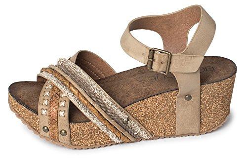 Corkys Kvinders Lincoln Kile Sandal Bronze Multi TB3akMFVRe