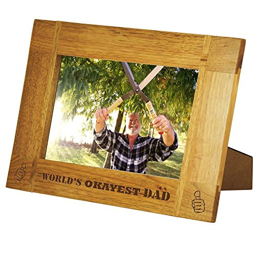 Father's Day Special!! World's Okayest Dad Wood Picture F...