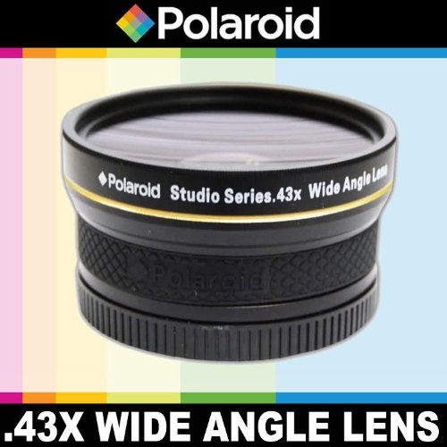 Polaroid Studio Series .43x High Definition Wide Angle Lens With Macro Attachment, Includes Lens Pouch and Cap Covers For The Nikon D40, D40x, D50, D60, D70, D80, D90, D100, D200, D300, D3, D3S, D700, D3000, D5000, D5100, D3100, D3200, D7000, D800, D800E, D4 Digital SLR Cameras Which Have Any Of These (18-55mm, 55-200mm, 50mm, 40mm, 28mm) Nikon Lenses