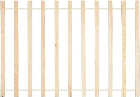 vidaXL Madera de Pino Maciza Somier Enrollable Somier de Láminas Lamas Somier con 11 Láminas sin Patas para Cama en Habitación 120x200 cm
