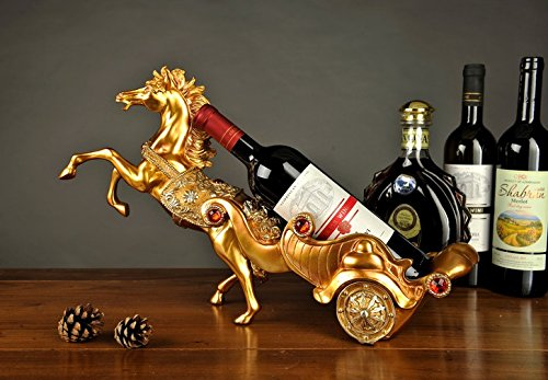 European fashion peacock resin gift wine rack Home Furnishing hotel room wine wine shelf zj0124232 by Supper pp
