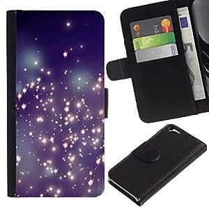 APlus Cases // Apple Iphone 6 4.7 // Glitter estrellas universo espumoso las luces la Noche // Cuero PU Delgado caso Billetera cubierta Shell Armor Funda Case Cover Wallet Credit Card