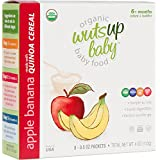 Organic Cereal - WutsupBaby Quinoa Cereal Pouches, Apple & Banana (8 Count) - USDA Certified Organic - Healthy Rice alternative - Vegan & Gluten-Free