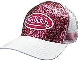Von Dutch Trucker Sparkle Cap with Logo Patch (Red VDHT228)