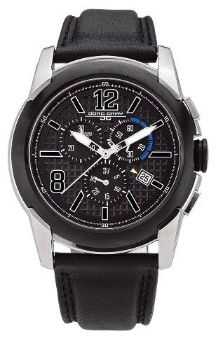 Jorg Gray Swiss ISA Chrono Black Dial Men's watch #JG9400-12