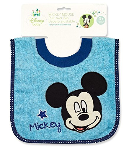 Absorbent Terry Cloth Pullover (Mickey Mouse Terrycloth Pullover Baby Bib)