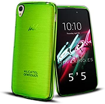 FUNDA DE GEL SILICONA VERDE PARA Alcatel One Touch Idol 3 ...