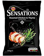 Sensations Roasted Chicken & Thyme Crisps 150g - Pack of 6