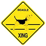 Beagle Xing caution Crossing Sign dog Gift