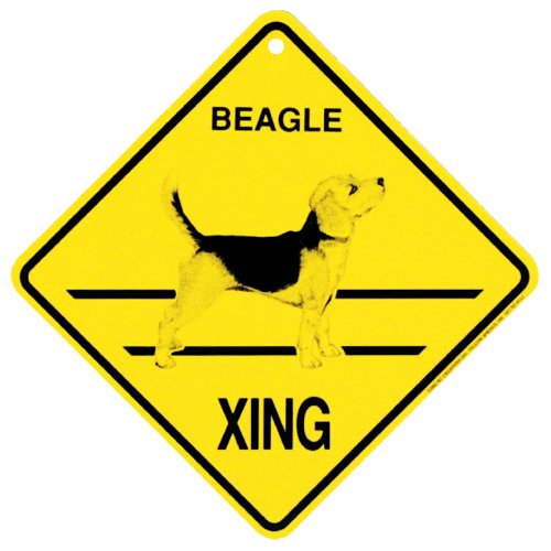 Beagle Xing caution Crossing Sign dog Gift (Dog Crossing)