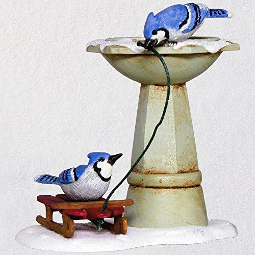 Hallmark Keepsake Christmas Ornament 2018 Year Dated, Marjolein Bastin Marjolein's Garden Bathing Blue Jays